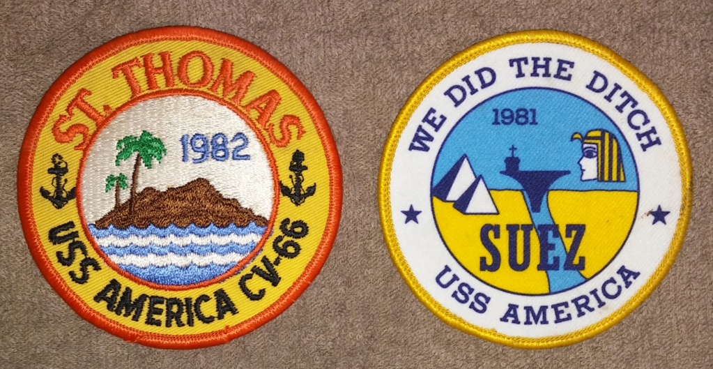 USS America (CV-66) Cruise Patches 19700227