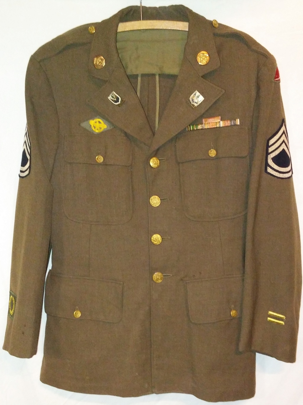 US Army 78th Division Technical Sergeant Uniform and Relics 19700272