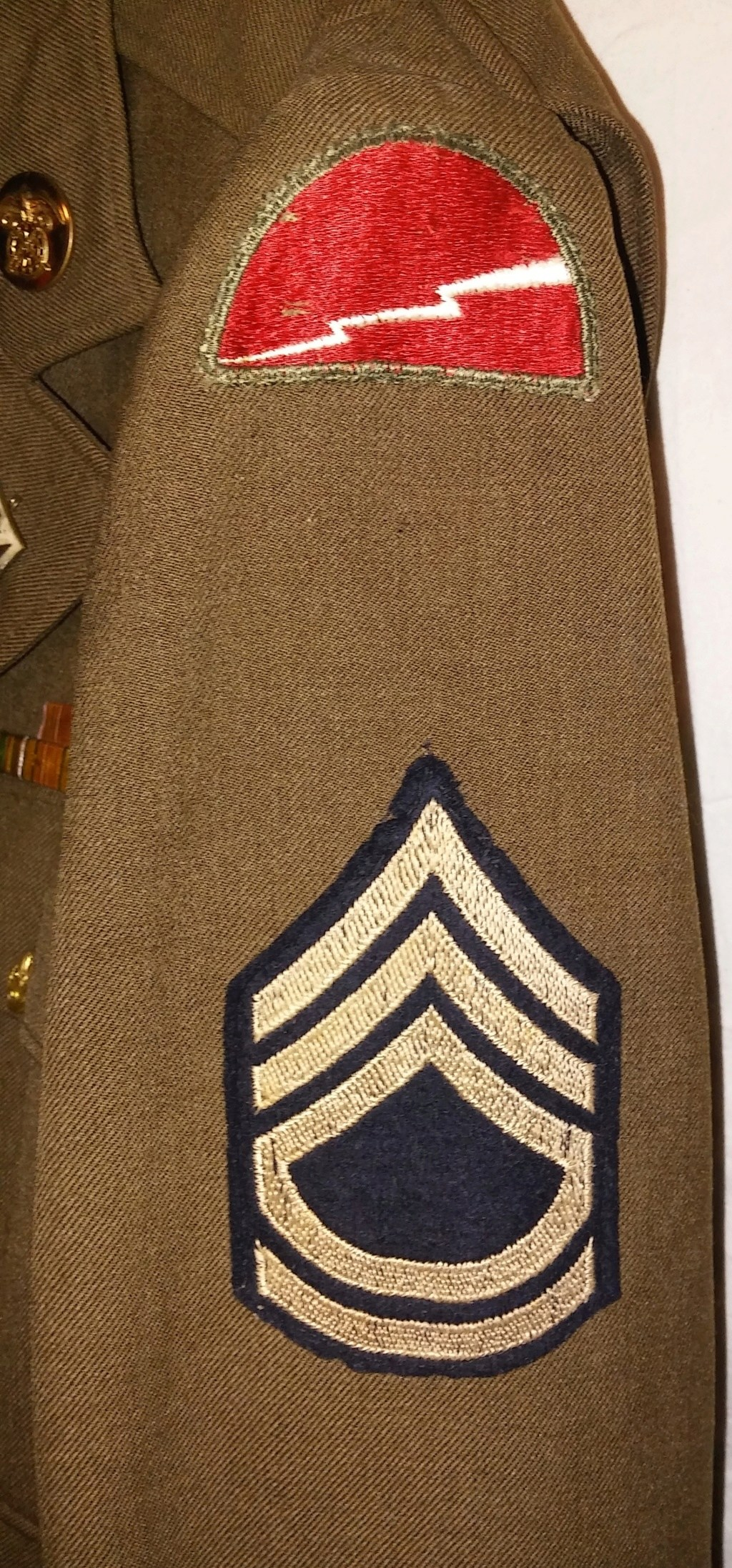 US Army 78th Division Technical Sergeant Uniform and Relics 19700279