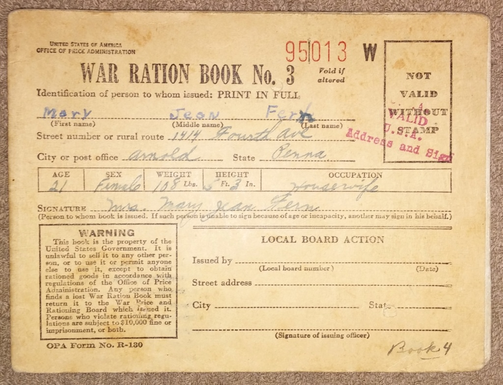 WW2 Rationing 19700393