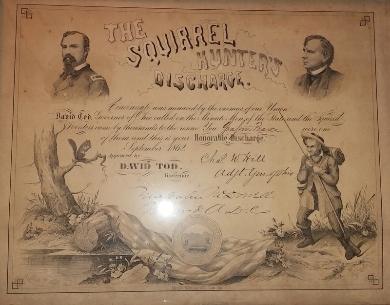 American Civil War Ohio Squirrel Hunter's Discharge 20170932