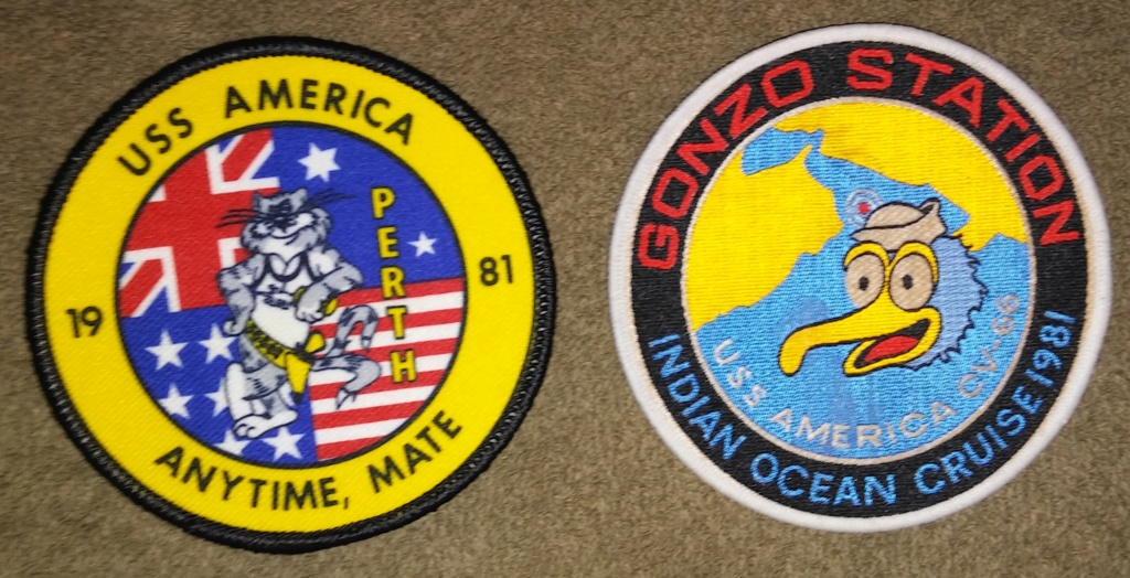 USS America (CV-66) Cruise Patches 20190414