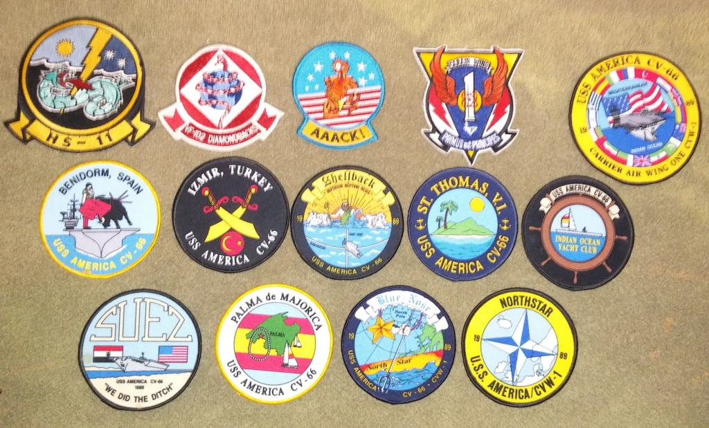 USS America (CV-66) Cruise Patches 20190421