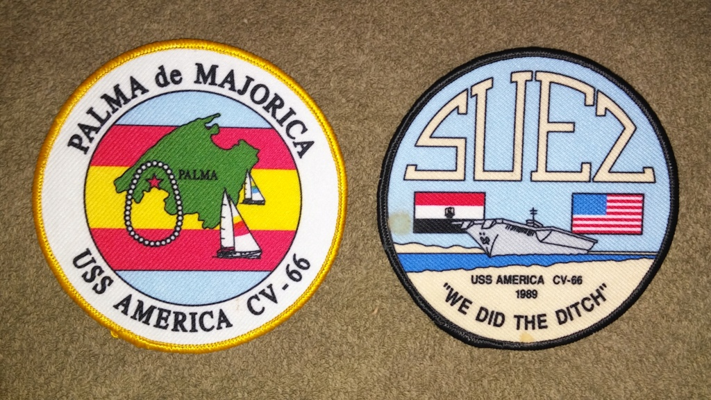 USS America (CV-66) Cruise Patches 20190423