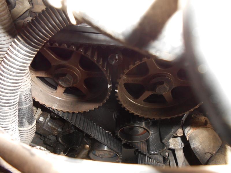 Changement courroie distribution S3 2,4l essence : le support moteur Dscn3318