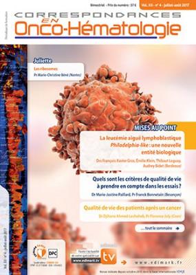Correspondances en Onco-Hématologie N° 4 août 2017 Hight_14