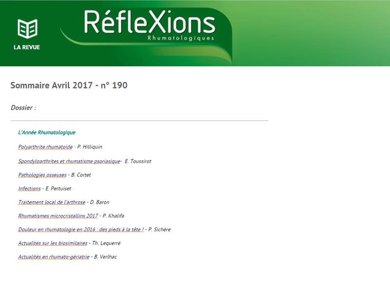 Réflexions rhumatologiques Avril 2017 Ryfle10