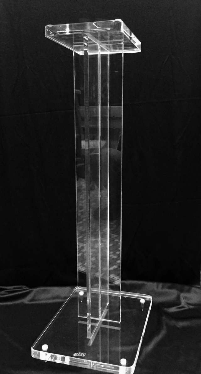 """Acrylic Speaker Stand (28"""" approx) with spike  110"""