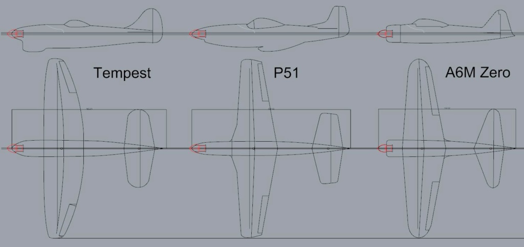 Flotte de warbirds silhouettes ! Plan110