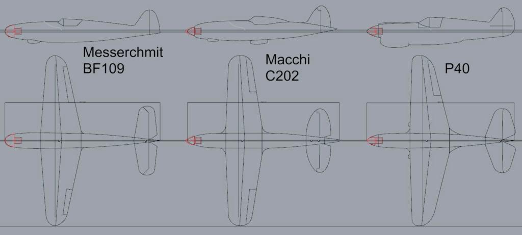 Flotte de warbirds silhouettes ! Plan310
