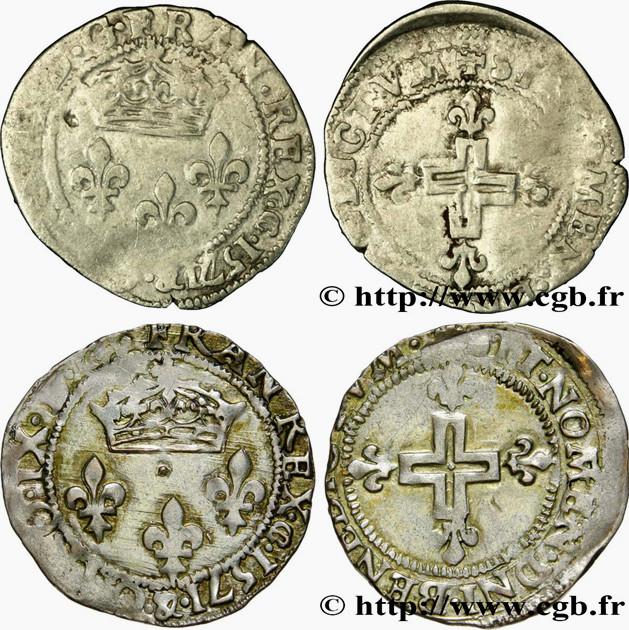 Double Sol Parisis pour CHARLES IX- 1571 - Atelier Aix en Provence . 1571_a10
