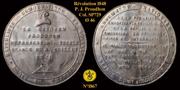 Médaille de la Révolution de 1848 ... 1867_c10