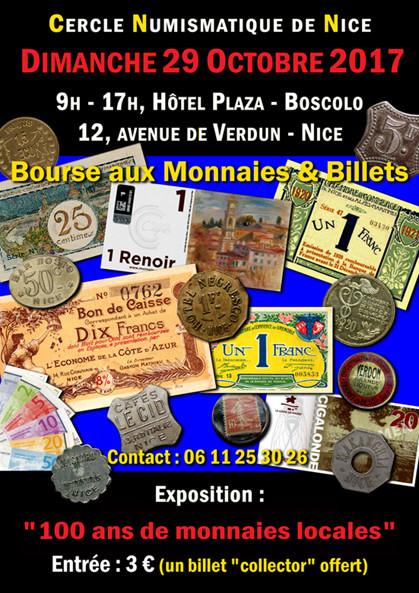 Prochaine Bourse Numismatique de Nice 23 Octobre 2017 ... Affich10