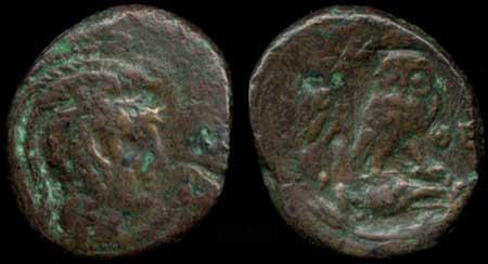 Une chouette, oui, mais d'où ? Bronze attique d'Athènes ... Athyne11