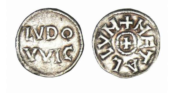 Obole Louis 1er le Pieux pour la ville de Melle ... Louis-10