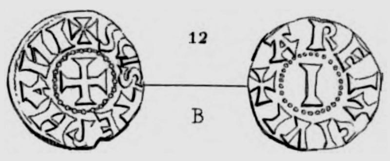 denier pour archevêque ITIER (965-978) de la ville d'Arles Pa_40810