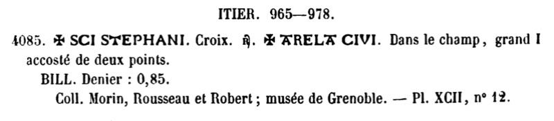 denier pour archevêque ITIER (965-978) de la ville d'Arles Pa_40811