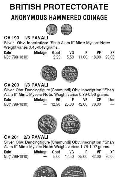 1/6 de Pavali de l'Etat Princier de Mysore (1799-1810) en Inde ... Pavali10
