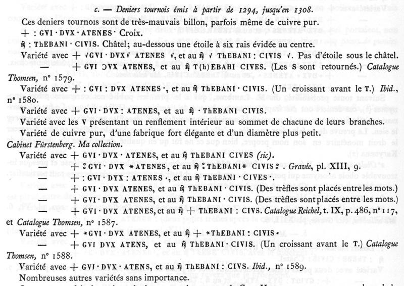 Denier tournois des Ducs d'Athènes, pour Guy II ... Schlum11