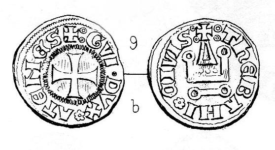 Denier tournois des Ducs d'Athènes, pour Guy II ... Schlum12