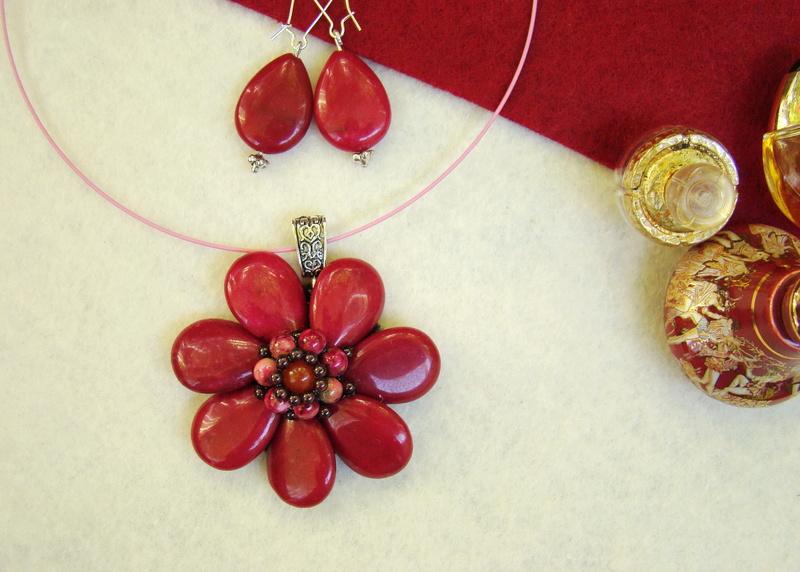 """""""Flori de piatră-Bijoux"""" albumul II-bijuterii artizanale marca Didina Sava - Pagina 10 Colie114"""