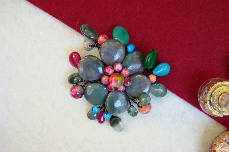 """""""Flori de piatră-Bijoux"""" albumul II-bijuterii artizanale marca Didina Sava - Pagina 11 Colie117"""