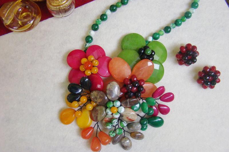 """""""Flori de piatră-Bijoux"""" albumul II-bijuterii artizanale marca Didina Sava - Pagina 10 Colier23"""