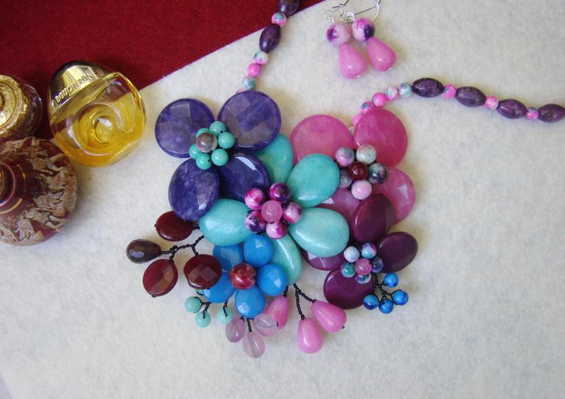 """""""Flori de piatră-Bijoux"""" albumul II-bijuterii artizanale marca Didina Sava - Pagina 10 Colier42"""