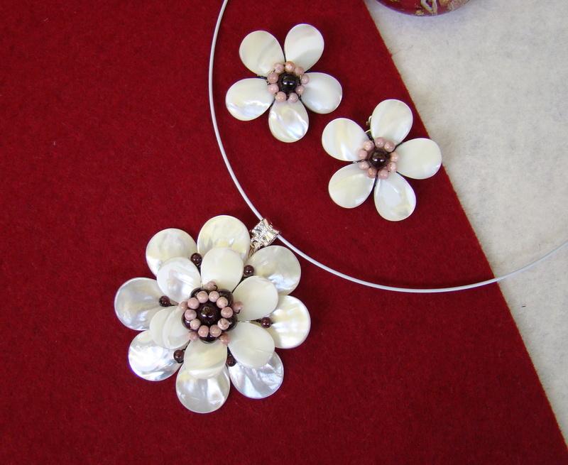 """""""Flori de piatră-Bijoux"""" albumul II-bijuterii artizanale marca Didina Sava - Pagina 9 Colier87"""