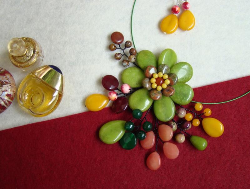 """""""Flori de piatră-Bijoux"""" albumul II-bijuterii artizanale marca Didina Sava - Pagina 9 Colier93"""