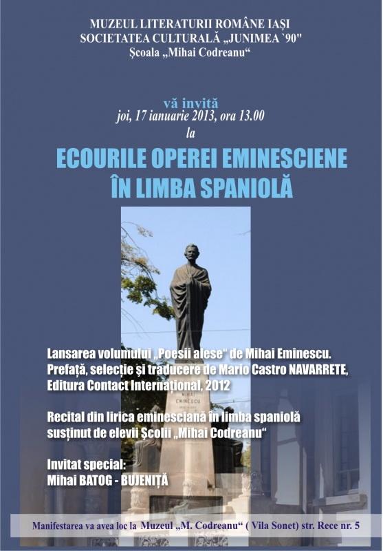 Ecourile operei eminesciene în limba spaniolă Emines11