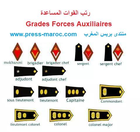 رتب القوات المساعدة Grades Forces Auxiliaires 10850310
