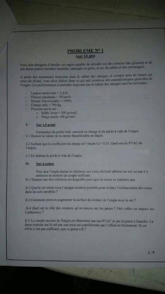 وزارة التجهيز والنقل: نموذج مباراة توظيف مهندس الدولة من الدرجة الأولى تخصص (الكترونيك و الميكانيك) بتاريخ 18 شتنبر 2013 211