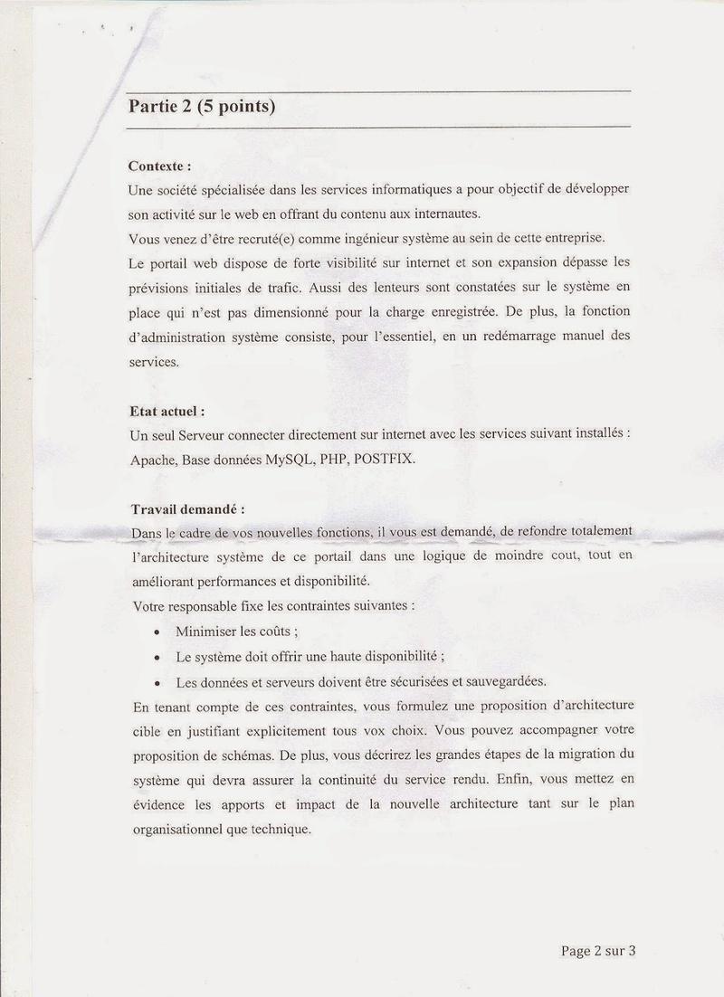 الجماعات المحلية : نموذج مباراة توظيف متصرف من الدرجة الثانية السلم 11 تخصص الشبكات والأنظمة المعلوماتية 2014 2210
