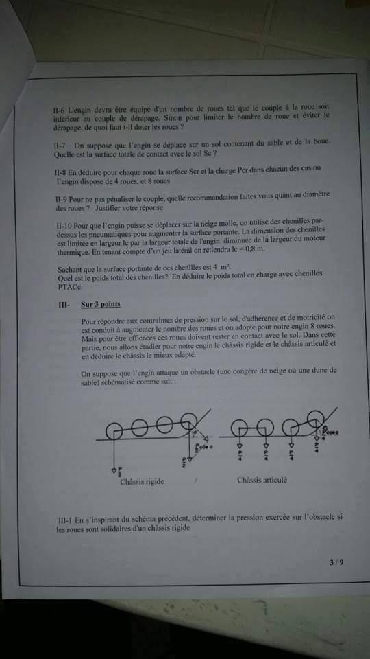 وزارة التجهيز والنقل: نموذج مباراة توظيف مهندس الدولة من الدرجة الأولى تخصص (الكترونيك و الميكانيك) بتاريخ 18 شتنبر 2013 311
