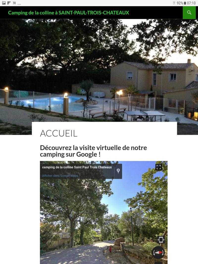 Camping de la Colline Saint Paul 3 Chateaux  Screen10
