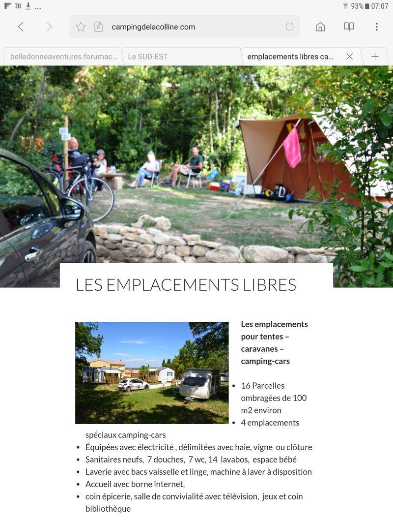 Camping de la Colline Saint Paul 3 Chateaux  Screen11