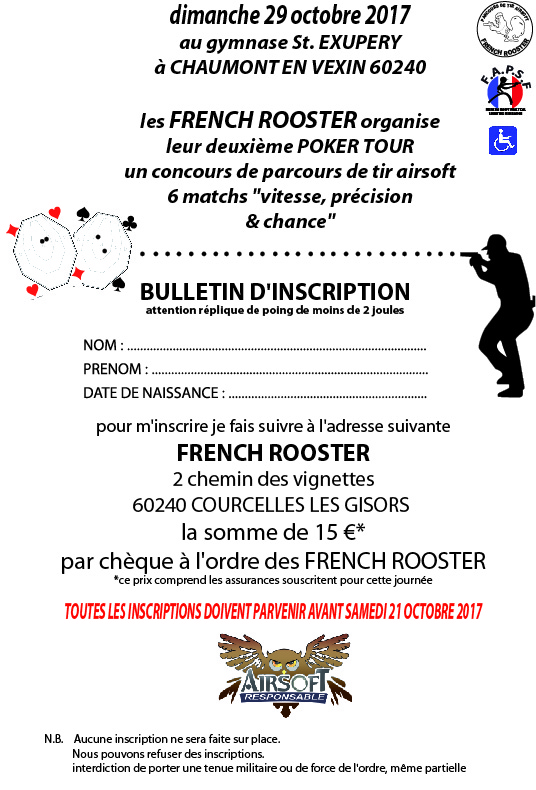 """notre 2eme """"poker tour"""" le 29 octobre 2017 Inscri11"""
