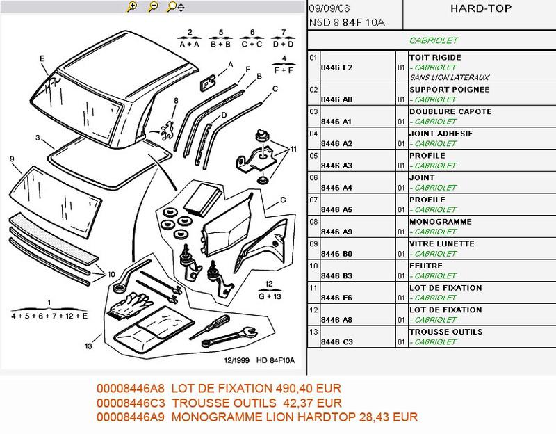 [ HARDTOP ] Kit de fijación del techo duro Detail10
