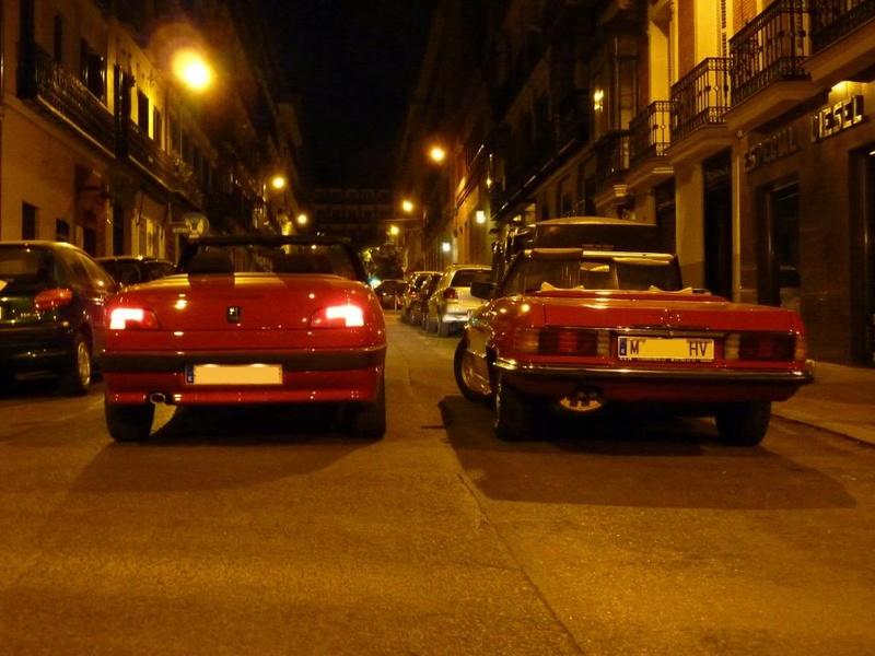 [ FOTOS ] 306 Cabrio vs/ Mercédes SL P1020411