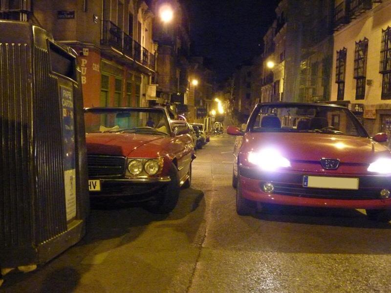 [ FOTOS ] 306 Cabrio vs/ Mercédes SL P1020413