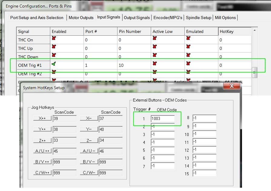 rédiger une macros avec les codes OEM Extern10