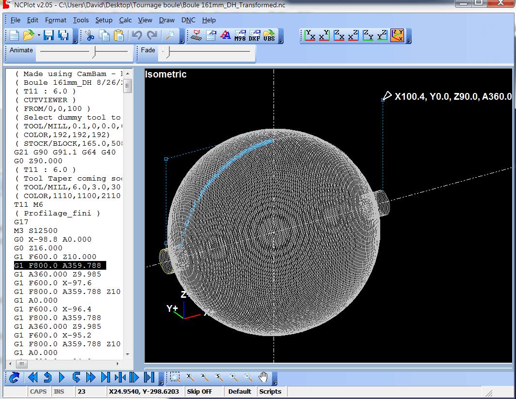 Réaliser une boule Tournb20