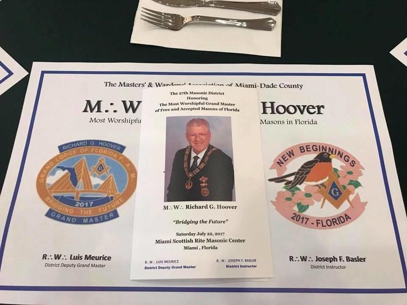 Visita oficial del MWGM de Florida Richard G. Hoover al 27º Distrito organizado por DGM Luis Meurice 20228313