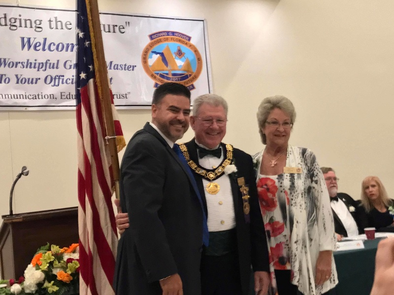 Visita oficial del MWGM de Florida Richard G. Hoover al 27º Distrito organizado por DGM Luis Meurice 20232010
