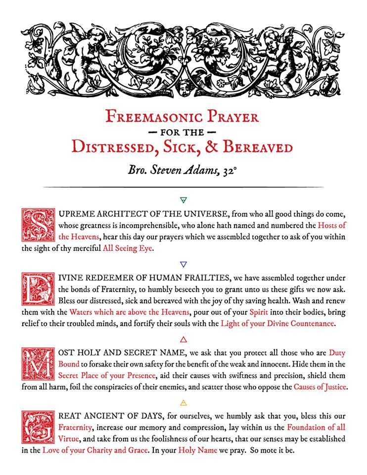 Oración Masónica Freema10