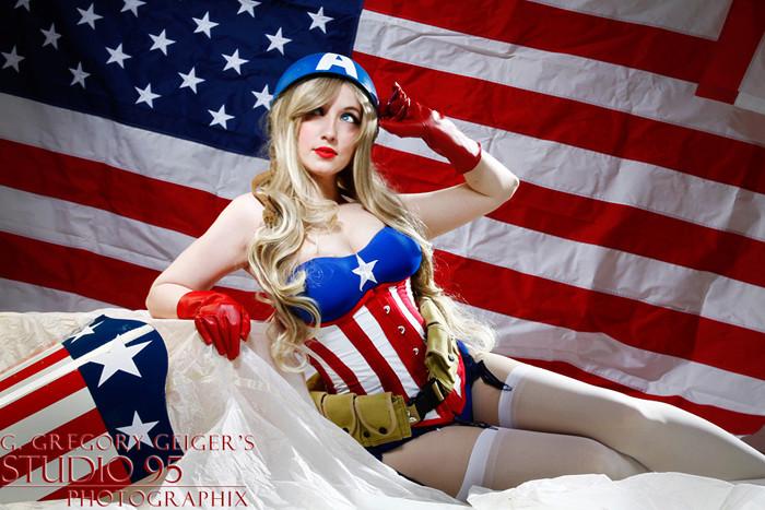 c'est le 4 juillet et donc naturellement c'est le mois de miss america et de son mister Captai11