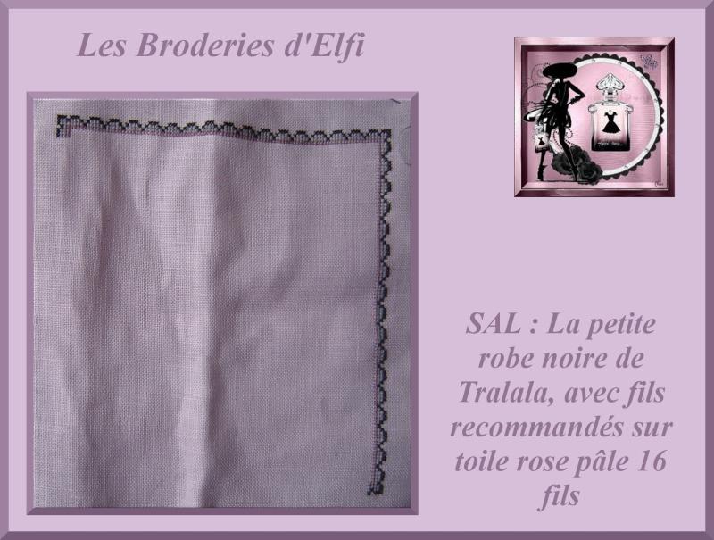 1e Objectif: SAL Ma petite robe noire Montag11
