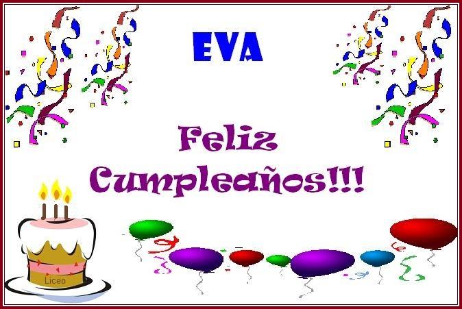 Feliz cumpleaños Eva. Eva10