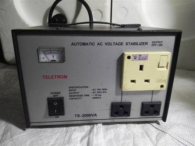 (not available) Teletron 2000VA Auto AC Voltage  Stabilizer Img_2076